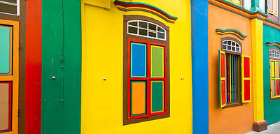 Colorful Building In Little India Poster by Panoramic Images