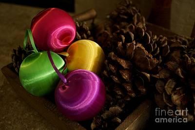 Colorful Christmas Balls Poster