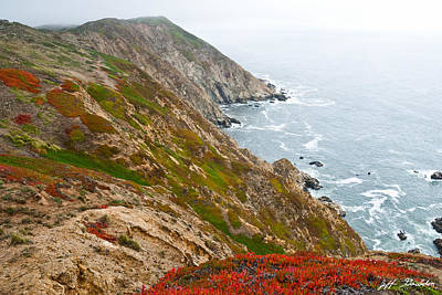 Colorful Cliffs At Point Reyes Poster by Jeff Goulden
