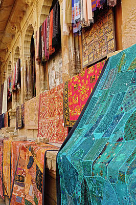 Colorful Cloth / Fort Jaisalmer Poster by Adam Jones