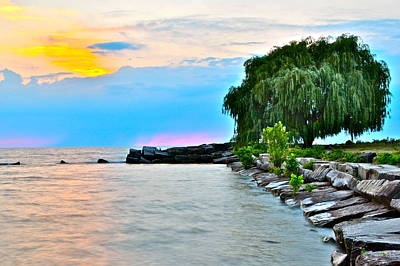 Colorful Coastline Poster by Frozen in Time Fine Art Photography