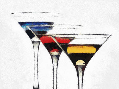 Colorful Cocktails Poster by Georgi Dimitrov