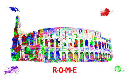 Colorful Colosseum Poster by Image World