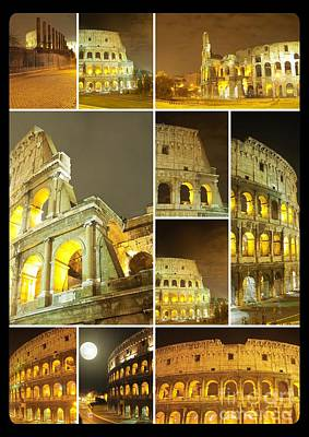 Colorful Composition Made Of Colosseo Poster by Stefano Senise