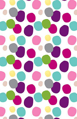Colorful Confetti 2 Poster by Linda Woods