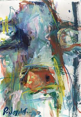 Colorful Cow Print Poster by Robert Joyner