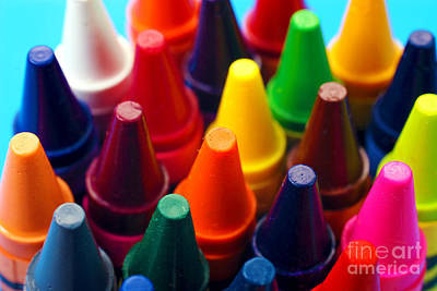 Colorful Crayons Closeup Poster