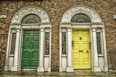 Colorful Doors In Dublin Poster by Patricia Hofmeester