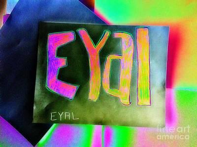 Colorful Eyal  Poster by GOLDA Zehava TALOR