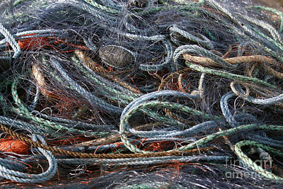 Colorful Fishing Nets Poster