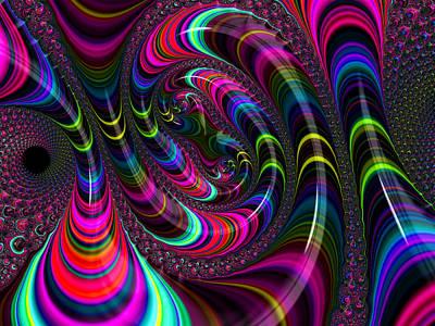 Colorful Fractal Art Poster
