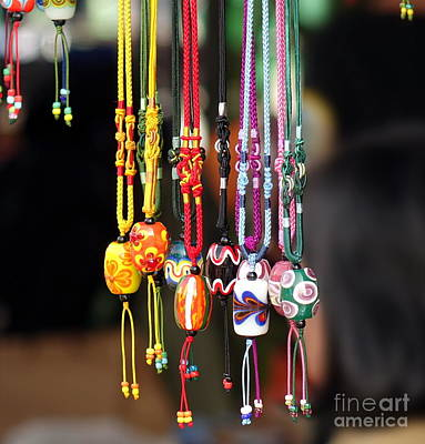 Colorful Glass Beads Jewelry Poster by Yali Shi