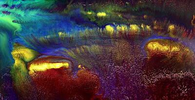 Colorful Horizontal Abstract Art Rainbow By Kredart Poster