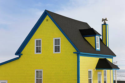 Colorful House, Iles De La Madeleine Poster by Keren Su