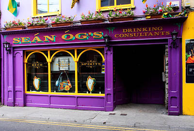 Colorful Irish Pub Poster