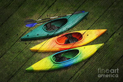 Colorful Kayaks Poster by Suzi Nelson
