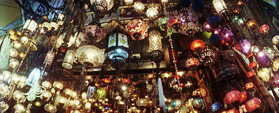 Colorful Lamps In The Grand Bazaar Poster