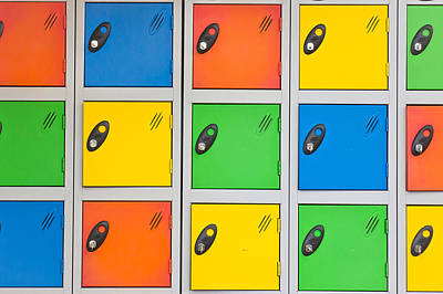 Colorful Lockers Poster by Tom Gowanlock