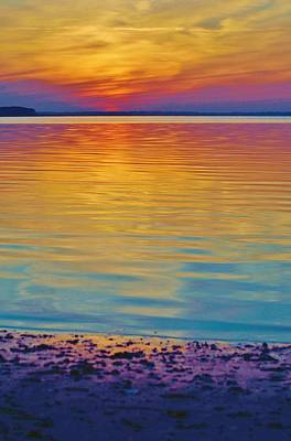 Colorful Lowtide Sunset Poster