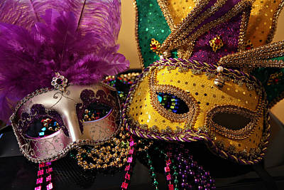 Colorful Mardi Gras Masks Poster