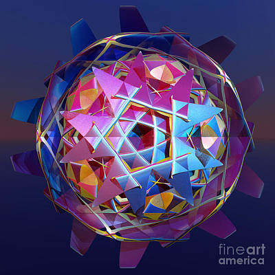 Colorful Metallic Orb Poster by Gaspar Avila