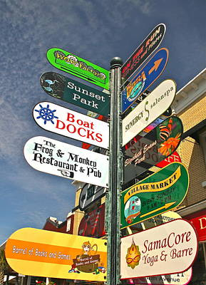 Colorful Mount Dora Signs Poster