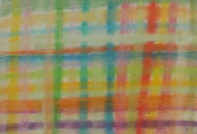 Poster featuring the drawing Colorful Plaid by Thomasina Durkay