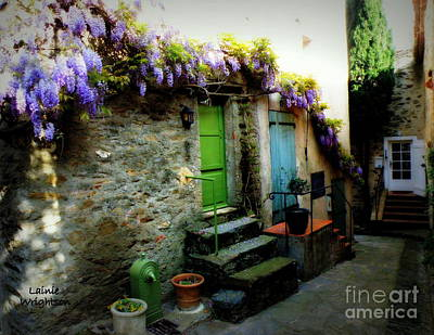 Colorful Provence Street Poster by Lainie Wrightson