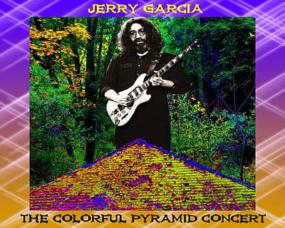 Poster featuring the photograph Colorful Pyramid Concert by Ben Upham
