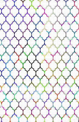 Colorful Quatrefoil Poster by Cassie Peters