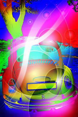 Colorful Retro Abstract Poster by Modern Art Prints