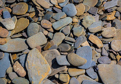 Colorful River Rocks Poster by Photographic Arts And Design Studio