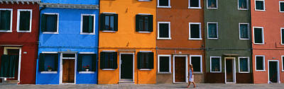 Colorful Row Houses, Burano, Venice Poster by Panoramic Images