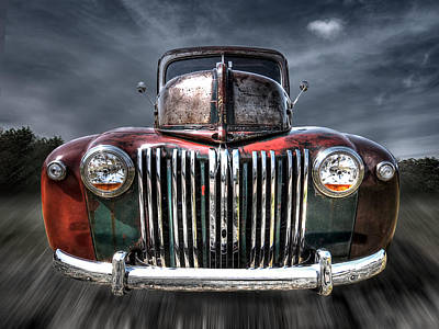 Colorful Rusty Ford Head On Poster