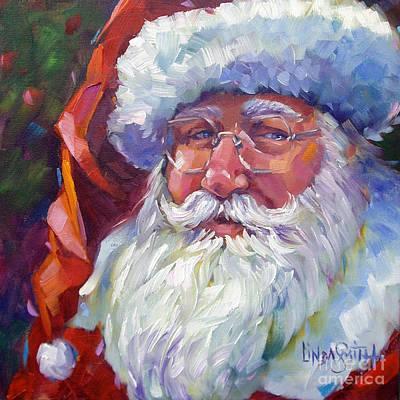 Colorful Santa Poster