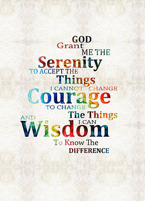 Colorful Serenity Prayer By Sharon Cummings Poster by Sharon Cummings