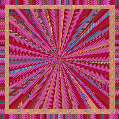 Colorful Sparkle Novino Signature Style Art Poster