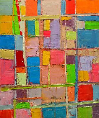 Colorful Spring Mood - Abstract Expressionist Composition Poster by Ana Maria Edulescu