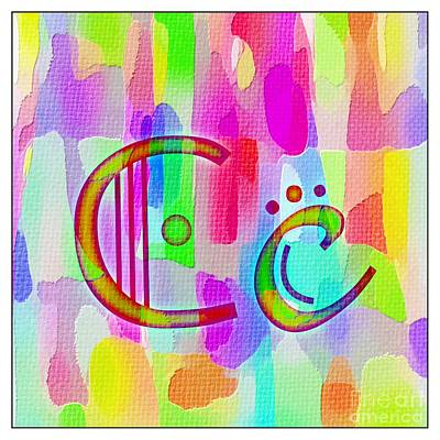 Colorful Texturized Alphabet Cc Poster by Barbara Griffin