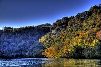 Poster featuring the photograph Colorful Trees Over A Lake by Jonny D