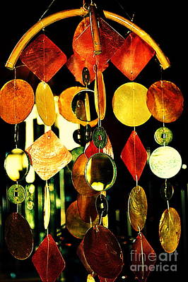 Colorful Wind Chime Poster by Susanne Van Hulst
