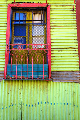 Colorful Window Poster