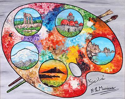 Colori Di Sicilia Poster by Loredana Messina