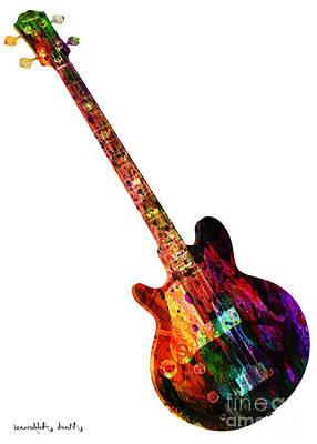Colors Guitar  Poster by Mark Ashkenazi