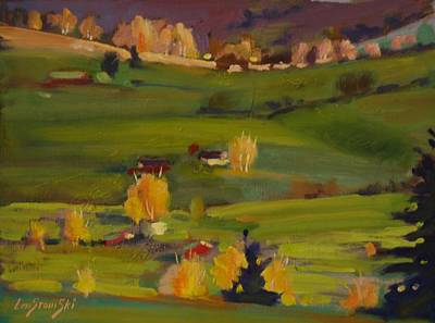 Colors Of Autumn Poster by Len Stomski