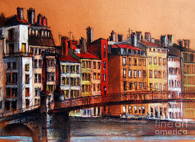 Colors Of Lyon I Poster by Mona Edulesco