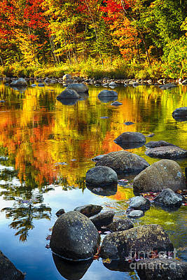 Colors Of New England Autumn I Poster by George Oze