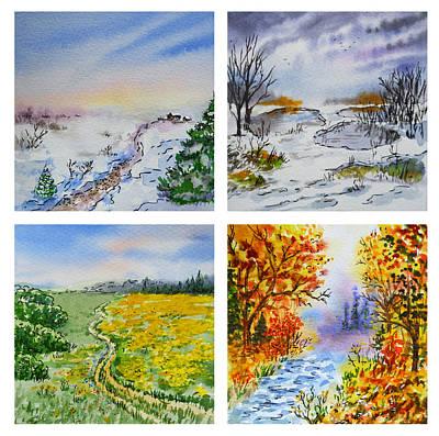 Colors Of Russia Four Seasons Poster by Irina Sztukowski