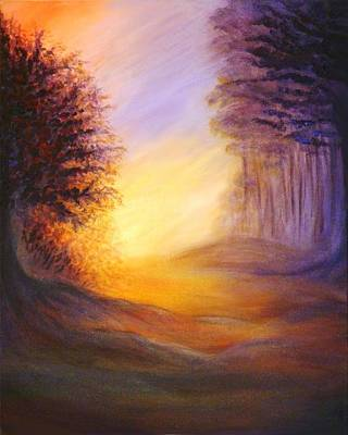 Poster featuring the painting Colors Of The Morning Light by Lilia D