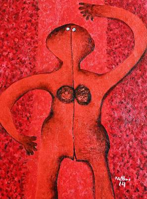 Colos Woman Red Poster by Mark M  Mellon